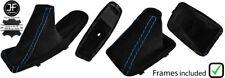 BLUE STITCH SUEDE AUTOMATIC BOOT SET & PLASTIC FRAME FOR BMW E90 E91 E92 E93