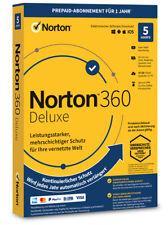 Norton 360 Deluxe 5 Geräte 1 Jahr PC/Mac 2021 / 2022 Internet Security Download