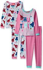 Trolls Girls 4pc L/S Multi-Color Snug Fit Pajama Pant Set Size 4 6 8 10 $46