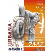 1/24 Urbana Girls in Action Resin Model Kits Unpainted GK Unassembled