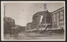 RP Postcard PORTSMOUTH NH  Congress St Drug Store & Business Storefronts 1907