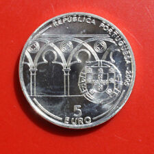 Portugal-portuguesa: 5 euro 2005 plata, km # 762, # f 1497, St-bu