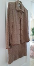 St. John Couture 2 Pc Suit Brown Tweed Boucle by Marie Gray Size 6, USA
