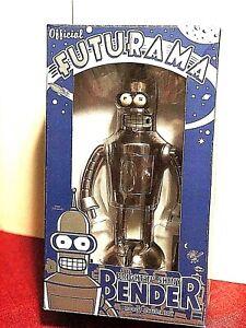 "Futurama Bender   ""Bright'nShiny"" Tin 9'inch Collector"
