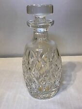 Waterford Crystal Decanter W/Flat Top Stopper Drogheda Pattern Ireland Art Glass