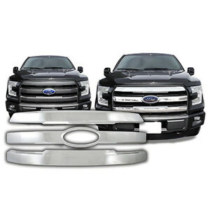 CHROME OVERLAY GRILLE for FORD F150 2015-2017 LARIAT KING RANCH MODELS