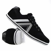 Mens Casual Flat Lace Up Running Walking Gym Sports Fitness Trainers Shoes Size