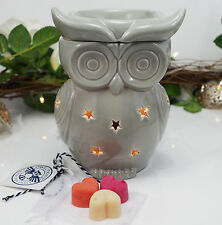 Wax Burner-Grey Owl Electric wax warmer + light, dimmer & fragrant winter scents