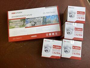 Hikvision 7604NI-K1/4P 2TB NVR & 4x 2CD2345FWD 2.8mm 4mp Turret IP Camera Cctv