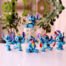 1 Set of 6 Disney Stitch Figures Figurines Cake Topper Ornament Decor Toys 7-8cm