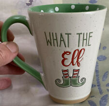 What The Elf Tall Coffee Cup Mug Spectrum Design Z Green Red White W Elf Boots