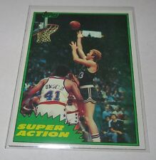 1981/82 Larry Bird Boston Celtics NBA Basketball Super Action Topps Card #101 NM
