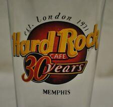 Hard Rock Cafe Memphis Beer Drinking Drink Bar Glass 30 Year Anniversary Logo