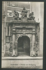 Amsterdam Poortje a/d Heiligeweg 1923 met zeldzame frankering en stempel