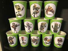 Plants Vs Zombies Birthday Party Pack For 16 Lime Green Cups & 7 Inch Plates
