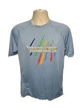 TCS New York City Marathon Training Series 12M Run Mens Medium Blue Jersey