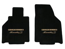 NEW! 2005-2012 Black Front Floor Mats Porsche Boxster S embroidered logo Tan Pr
