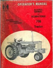 McCormick Farmall and International 706 Tractor Operators Manual