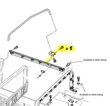Hmmwv Soft Top Bow Mounting Screws (for 2 And/or 4 Man Soft Top Bows)
