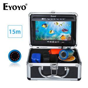 "EYOYO 7""TFT LCD Screen Fish Finder 15M 12 LED Underwater HD 1000TVL Camera IP68"