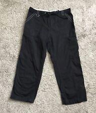 "OLEG CASSINI SPORT Womens Size Small Black Cargo Pants 24"" Inseam Cropped Capri"