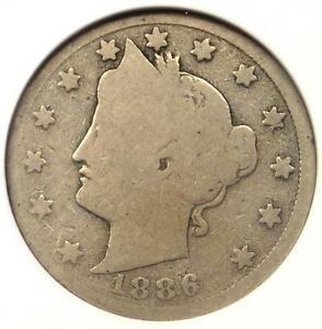 1886 Liberty Nickel 5C - ANACS G4 Details (Good) - Rare Key Date Certified Coin!