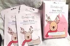 100% The Creme Shop Deer Diary ACNE & OIL Control 5 Peppermint Sheet Masks