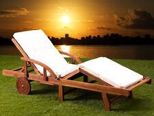 Tami Sun Lounger Bed Wooden Recliner Steamer Chair Folding Garden Hardwood