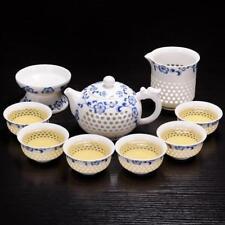 Chinese tea set blue-and-white porcelain tea pot cups filter net flower ceramic1