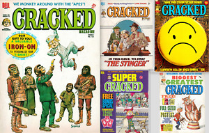 Cracked Magazines Collection of 5 rare 70's collectable comic & annual editions