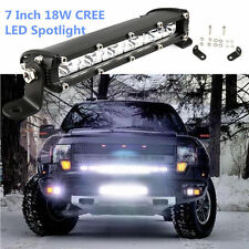 7inch 18W LED Work Light Bar Off road Lights Spot Fog ATV SUV 4WD Driving Lamp