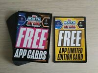 MATCH ATTAX EXTRA 2020/21 Bundle 50 DIGITAL CODES inc 3 limited edition cards