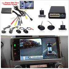 360° Bird View 4CH Camera Car Parking Helper Kit Cam DVR Recorder Alarm System