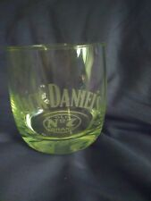 New listing Jack Daniels Whiskey Etched Frosted Bar Glass with Old No 7 on the Bottom