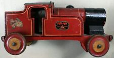 """Puff-Puff Wooden Ride On Toy Train Engine-20"""" Long-1930s-NTCX"""