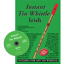 Instant Tin Whistle Irish by Dave Mallinson Book and CD