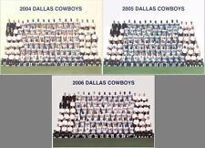 THREE Dallas Cowboys AUTHENTIC 8x10 Team Photos - U GET 2004, 2005 & 2006! MINT!