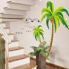 Coconut Palm Tree Wall Sticker Tropical Beach Wall Decal Sticker Decor Popular