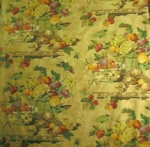 """P/Kaufman """"Tuscan"""" Soil & Stain Repellent Fabric Multi-colored Floral by 1/2 yd"""
