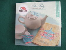 Slice Fabric Design Card #37969 - TEA PARTY  pieced shapes card - NEW