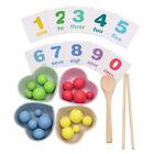 Kinder Montessori Holzclip Perlen Spielzeug Vorschule Lernen Matching Game