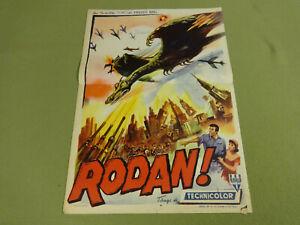 ORIGINAL MOVIE POSTER / CINEMA AFFICHE - RODAN!