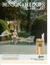 Vintage print ad Tobacco Cigarettes Benson & Hedges Couple Tennis Match 1983 ad