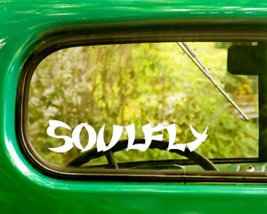 2 SOULFLY BAND DECALs Stickers Bogo For Car Truck Window Bumper