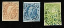MEXICO - 1864-66, EAGLE & MAXI.- 3 STAMPS, 2 UNUSED AND EAGLE 4r GREEN USED