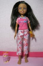 Barbie WEE 3 Three FRIENDS AA Doll~SLEEPOVER CLOTHES PJs-matching pet dog pillow