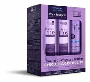 Kit Cadiveu Plastica dos Fios Keratin Post-Sealing Brazilian Hair Treat 3 Day US