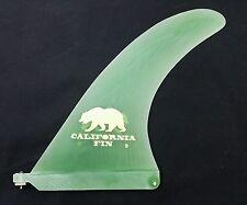 "9.0"" California Fin VOLAN FLEX fiberglass surfboard longboard   9"" Green"