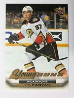 2015-16 UD Young Guns Canvas Rookie Nick Ritchie