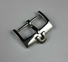16MM OMEGA STAINLESS SILVER COLOR BUCKLE, FITS 18MM STRAP